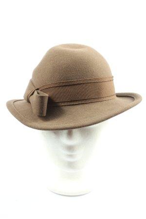 favorite Sombrero de fieltro marrón elegante