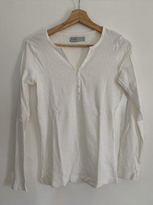 Geribd shirt wit