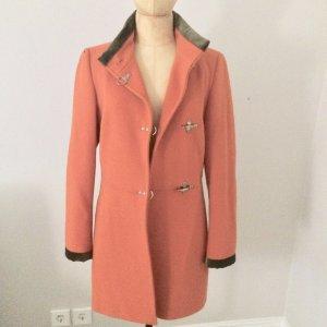 FAY Cashmere Wolle Mantel Gr. 38 orange & grün