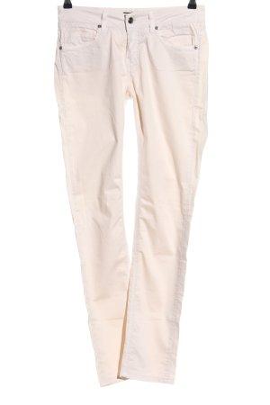 FAY Pantalone jersey bianco sporco stile casual