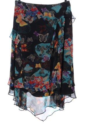 Fayazi Spódnica z falbanami Abstrakcyjny wzór Elegancki