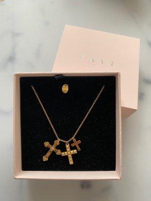 FAYE Saint Valentine Kreuz Kette Gold