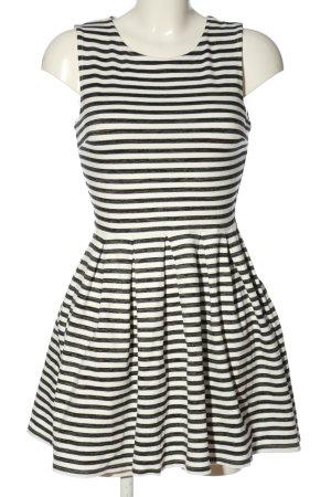 FB Sister A-Linien Kleid schwarz-weiß Streifenmuster Casual-Look