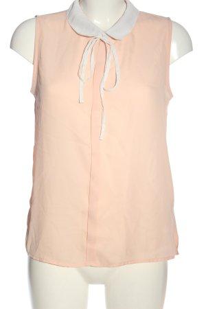FB Sister Blusa senza maniche rosa-bianco stile casual