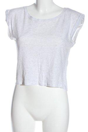 FB Sister Basic-Shirt weiß-hellgrau meliert Casual-Look