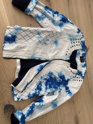 FB Sister Batik Jacke Blau Weiß Gr. L