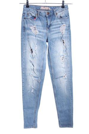 FB Sister Jeans boyfriend bleu style décontracté
