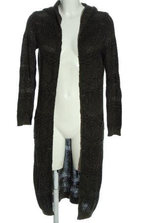 FB Sister Kardigan czarny-jasnoszary Na całej powierzchni W stylu casual