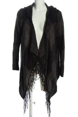 FB Sister Kardigan czarny-brązowy Wzór w kratkę W stylu casual