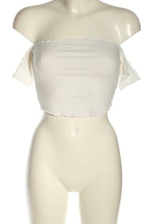 FB Sister Top épaules dénudées blanc style décontracté