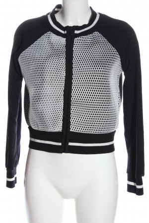 FB Sister College Jacket black-white casual look