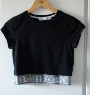 FB Sister Camicia cropped nero-bianco