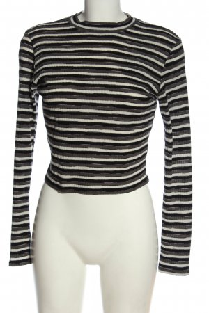 FB Sister Cropped Pullover Streifenmuster Casual-Look