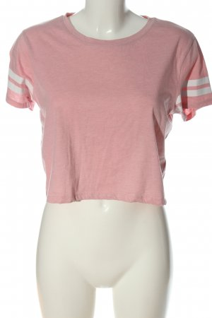 FB Sister Cropped Shirt pink flecked casual look