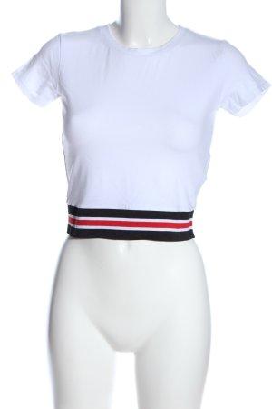 FB Sister Camisa recortada estampado a rayas look casual