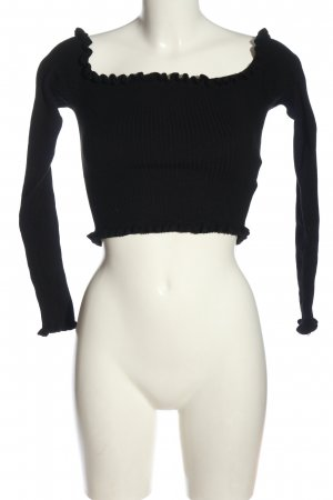 FB Sister Camisa recortada negro look casual