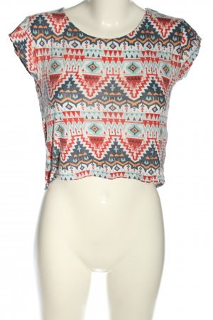 FB Sister Cropped Shirt Allover-Druck Casual-Look