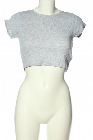 FB Sister Cropped Shirt light grey flecked casual look