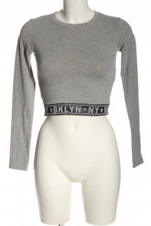 FB Sister Cropped Shirt light grey-black flecked casual look