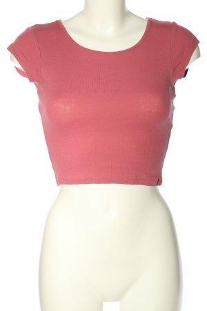 FB Sister Camisa recortada rosa look casual