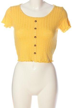 FB Sister Koszula o skróconym kroju bladożółty W stylu casual