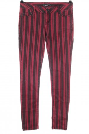 FB Sister Pantalone cinque tasche rosso-nero motivo a righe stile casual