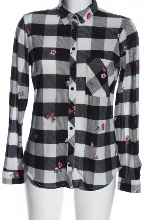 FB Sister Flanellhemd Blumenmuster Casual-Look