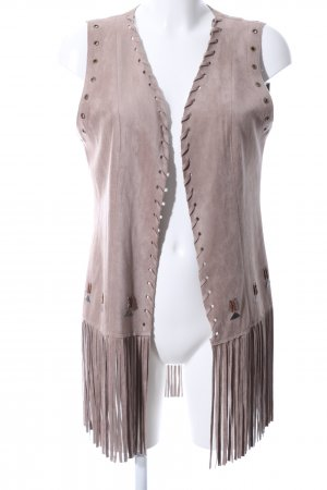 Fringed Vest natural white casual look