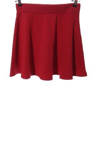 FB Sister Rozkloszowana spódnica czerwony W stylu casual
