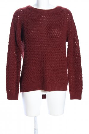 FB Sister Grobstrickpullover rot Casual-Look