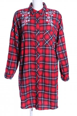 FB Sister Shirtwaist dress check pattern casual look