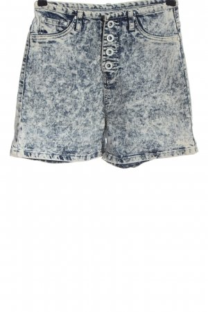 FB Sister Pantalón corto de talle alto azul-gris claro look casual
