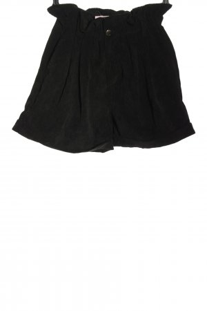FB Sister High-Waist-Shorts schwarz Streifenmuster Casual-Look