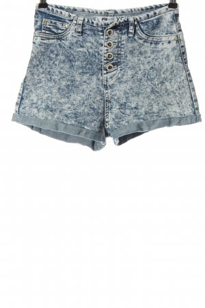 FB Sister High-Waist-Shorts blau meliert Casual-Look