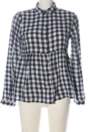 FB Sister Camicia da boscaiolo bianco-blu stampa integrale elegante