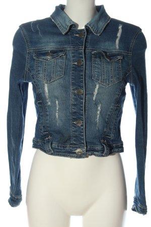 FB Sister Denim Jacket blue casual look