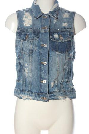 FB Sister Denim Vest blue street-fashion look