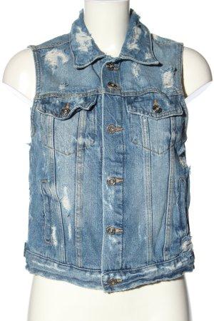 FB Sister Smanicato jeans blu stile casual