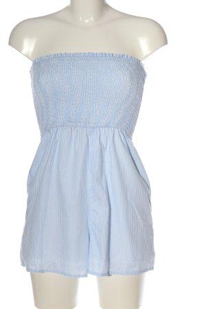 FB Sister Jumpsuit blau-weiß Streifenmuster Casual-Look