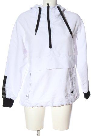 FB Sister Kurtka z kapturem biały-czarny W stylu casual