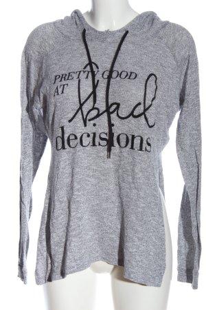 FB Sister Top à capuche gris clair-noir moucheté style décontracté