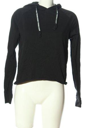 FB Sister Hooded Shirt black casual look