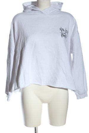 FB Sister Hooded Sweatshirt white-black printed lettering casual look
