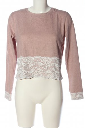FB Sister Langarm-Bluse pink meliert Casual-Look