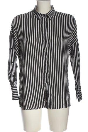 FB Sister Camicia a maniche lunghe nero-bianco motivo a righe