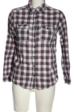 FB Sister Camicia a maniche lunghe grigio chiaro-rosa motivo a quadri