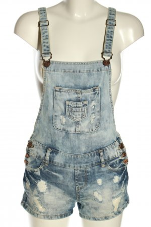 FB Sister Bib Denim blue casual look