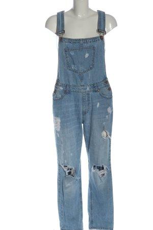 FB Sister Salopette en jeans bleu style décontracté
