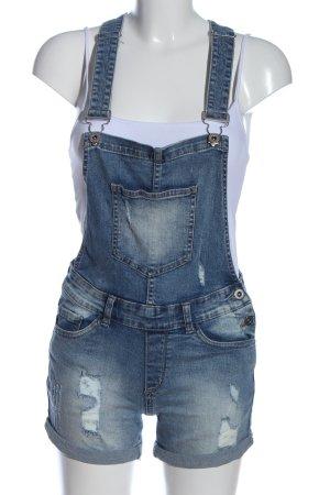 FB Sister Bib Shorts blue casual look