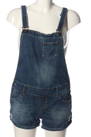 FB Sister Szorty ogrodniczki niebieski W stylu casual